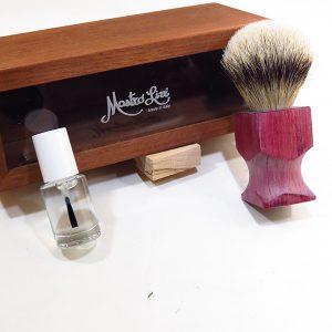 Pennello Custom ciuffo in tasso silvertip